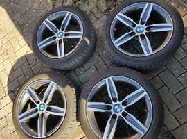 "Genuine BMW sports 17"" wheels with Run flat Tyres"
