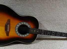 Vintage Ovation 1981 - 1112 Balladeer Acoustic Guitar - Sunburst
