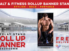 Roller Banner Stand and Pop up banners printing Cardiff