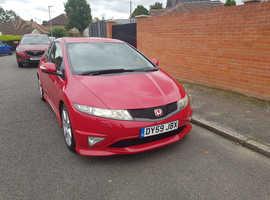 Honda Civic, 2009 (59) Red Hatchback, Manual Petrol, 33,000 miles