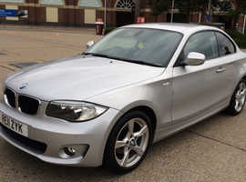 BMW 1 series, 2011 (11) Silver Coupe, Manual Diesel, 66,000 miles