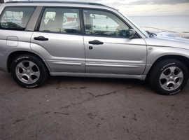 Subaru Forester, 2004 (54) Silver Estate, Manual Petrol, 130 miles