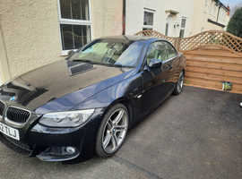 BMW 3 Series, 2012 (62) Black Convertible, Automatic Diesel, 81,700 miles