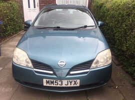 Nissan Primera, 2004 (53) 1.8 Blue Estate, Manual Petrol, 90,835 miles