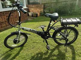 E Life Royale 36v 350w Folding Electric Bike as new