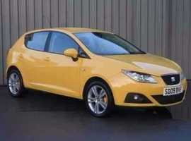 Seat Ibiza, 2009 (09) Yellow Hatchback, Manual Petrol, 59,300 miles