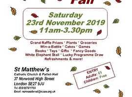 Autumn Fair at St Matthew's West Norwood