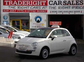 Fiat 500, 2014 (14) White Hatchback, Manual Petrol, 36,878 miles
