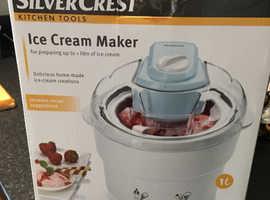 Silver crest ice cream maker.