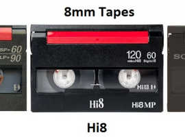 Cheap 8mm Video8 Hi8 video tape transfer UK