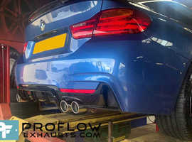 Custom Exhaust Back Box Delete with Dual Tailpipes made from stainless steel