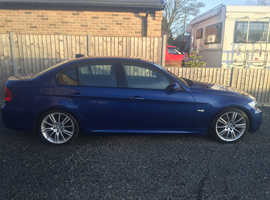 BMW 3 Series, 2006 (06) Blue Saloon, Manual Diesel, 126,600 miles