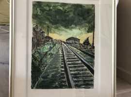 Bob Dylan Train Tracks Green 'Drawn Blank' Series 2010.
