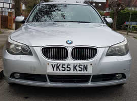 BMW 5 Series, 2006 (55) Silver Estate, Automatic Diesel, 193,239 miles
