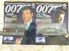 JAMES BOND 007 CAR COLLECTION PLUS MAGAZINES £6.25 EACH