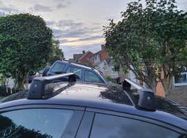Genuine Mercedes E class 2017 aluminum lockable roof bars and 2 bike racks