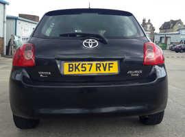 Toyota Auris, 2007 (57) Black Hatchback, Manual Diesel, 195,000 miles