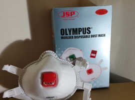 For Sale     New JSP Olympus 132 valved moulded disposable masks with FFP3 protection  High quality