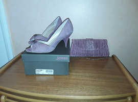 Lovely ladies pink suede shoes with diamante detail.