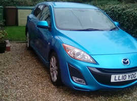 Mazda MAZDA 3, 2010 (10) Blue Hatchback, Manual Petrol, 69,500 miles