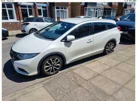 Honda Civic, 2014 (63) White Estate, Manual Petrol, 98,640
