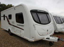 Swift Challenger 540 2011 4 Berth Fixed Bed Caravan + Motor Movers + 3/4 Awning + 3 Months Warranty Included
