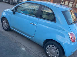 Fiat 500, 2014 (14) blue hatchback, Manual Petrol, 33,000 miles