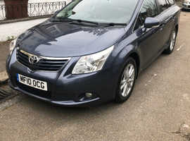 Toyota Avensis, 2010 (10) Blue Estate, Manual Diesel, 120,000 miles