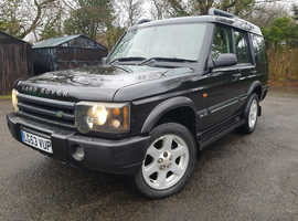 Land Rover Discovery, 2003 (53) Black Estate, Automatic Diesel, 130,000 miles