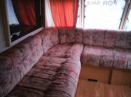 Bailey senator twin axle 5 berth L shape lounge
