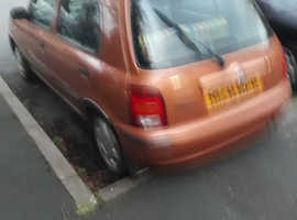 Nissan Micra, 1998 (R) Orange Hatchback, Manual Petrol, 75,000 miles