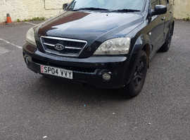 Kia Sorento, 2004 (04) Black Estate, Automatic Diesel, 169,569 miles