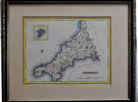 Antique Map of Cornwall 1830s