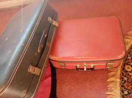 2 old suitcases for sale