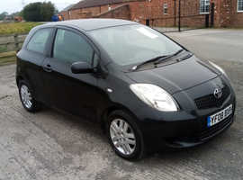 Toyota Yaris, 2008 (08) black hatchback, Manual Petrol, 120,000 miles