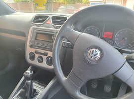 Volkswagen Eos, 2008 (08) Silver Convertible, Manual Petrol, 92,000 miles