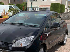 Mitsubishi Colt, 2009 (09) Black Convertible, Manual Petrol, 89,624 miles
