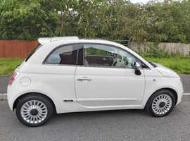 Fiat 500, 2009 (58) White Hatchback, Manual Petrol, 78,500 miles