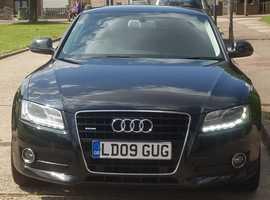 Audi A5 3.2 Quattro, 2009 (09) Black Coupe, Manual Petrol, 72,000 miles