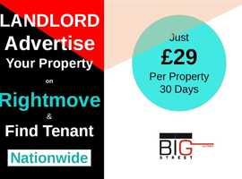 Innovative and Simple way to advertise your property and find tenant Nationwide in most affordable way.