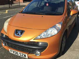 Peugeot 207, 2006 (06) Orange Hatchback, Manual Petrol, 89,000 miles