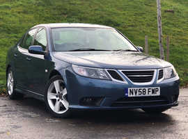 2009 (58) SAAB 9-3 VECTOR SPORT 2.0 TID 150 4 Dr Saloon in BLUE, LONG MOT, DIESEL, 2 OWNER, Service History