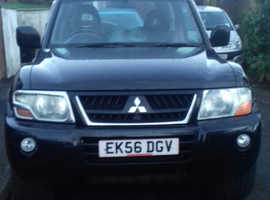 Mitsubishi Shogun, 2006 (56) Black Estate, Automatic Diesel, 144,000 miles