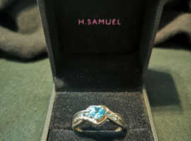 Argentium Silver and Blue Topaz Ring