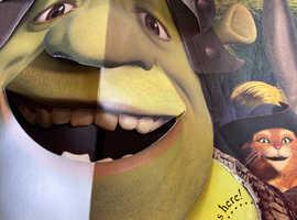 Shrek face mask, talking hand, & the legend of shrek belching book collection only