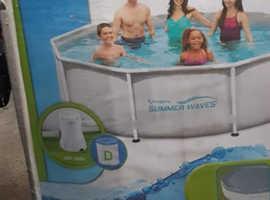 "Summer Waves Steel Swimming Pool Set, 305x76cm (10ft x 30"")"