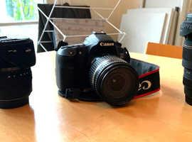 Canon 60D + 3 Lenses