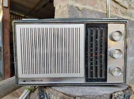 NICE EXAMPLE EARLY 1970's VINTAGE EKCO NAUTILUS PT310 TRANSISTOR RADIO. FREE UK DELIVERY