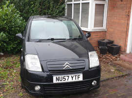 Citroen C2, 2007 (57) Black Hatchback, Manual Diesel, 130,000 miles
