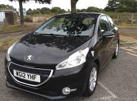 Peugeot 208, 2012 (12) Black Hatchback, Manual Petrol, 86,168 miles